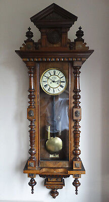 Antique German Weight Driven Wall Clock Vienna Regulator Reinhold Schnekenburger