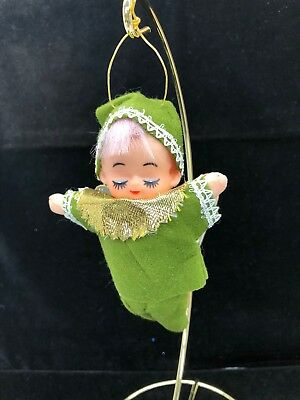 "RARE Vintage Jestia 5"" Flying Pixie with Wings Ornament #725 with Tag"