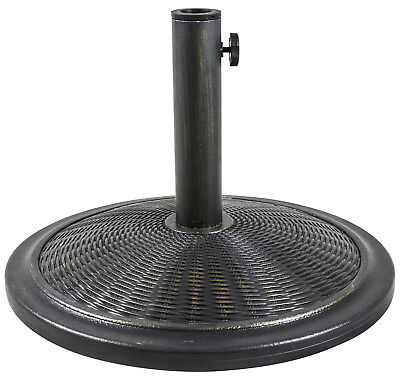 Woodside Brass 13kg Garden Patio Cantilever Parasol Umbrella Base Weight Stand