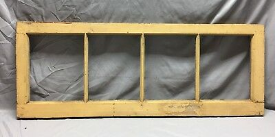 Antique 4 Lite Transom Window Sash Shabby Vintage Old Chic 16X43 41-19C