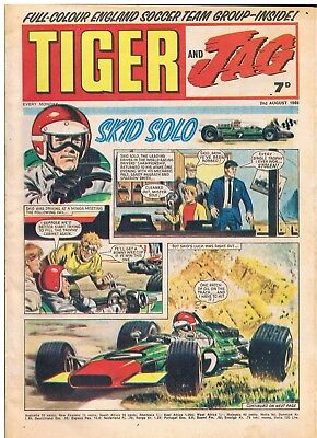 Tiger And Jag 2Nd August 1969 British Weekly Comic Kid Solo