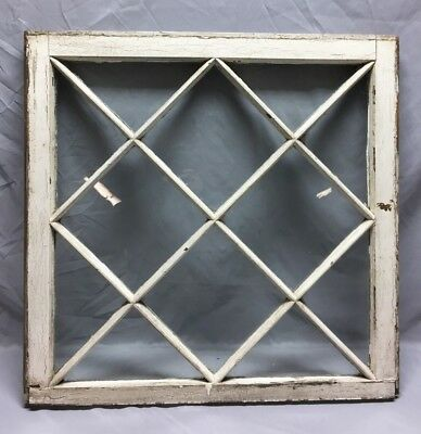 Antique Diamond Mission Window Sash Shabby Vintage Chic 30X30 Vintage 43-19C