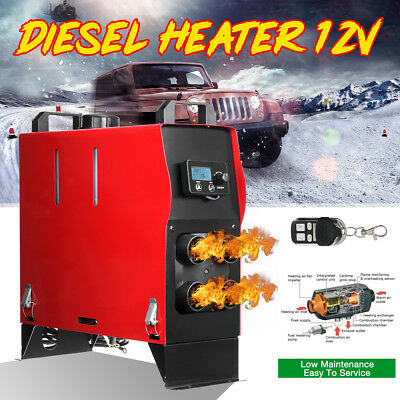 5KW 12V diesel Air Heater All in One LCD Monitor With Remote For Truck Bus Car