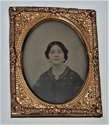 Ambrotype Photo Of Young Lady 1/9th Plate