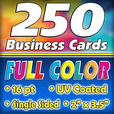 250 16pt. Full Color Business Cards - FREE Shipping $18.95