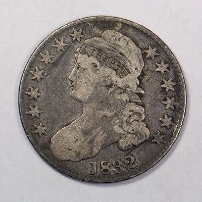 1832 50c CAPPED BUST HALF DOLLAR - LETTERED EDGE - LOT#H158