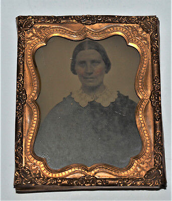 Ambrotype Photo of Lady, 1/9th Plate