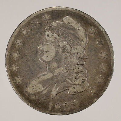 1833 50c CAPPED BUST HALF DOLLAR - LETTERED EDGE - LOT#H085