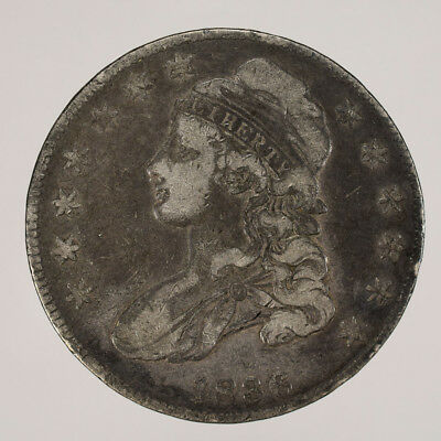 1836 50c CAPPED BUST HALF DOLLAR - LETTERED EDGE - LOT#H103