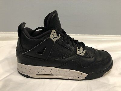 cheaper 81f42 81661 GS Air Jordan Retro 4 IV Black Tech Grey 408452-003 Oreo Cement 2015 Kids