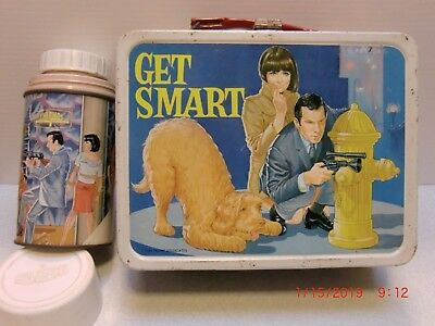 1966 Get Smart Lunch Box with Thermos Excellent Condition