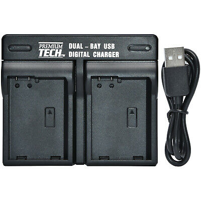 Premium Tech Dual Bay USB Battery Charger for Sony NP-FZ100 Battery