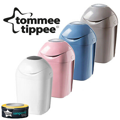 Tommee Tippee Sangenic Tec Nappy Disposal Tub Bin Including FREE Loaded Cassette