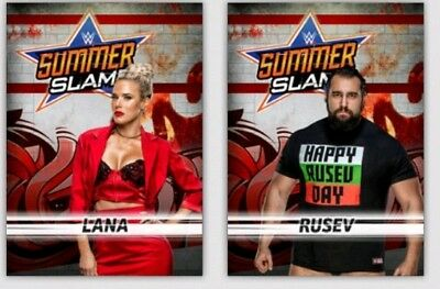 Topps WWE Slam Digital Card Trader - Set of 54 Black SummerSlam 2018 + 2 Awards
