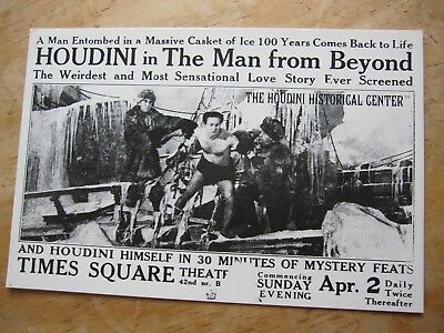 Houdini Magician Escapist Illusionist Postcard Man from Beyond