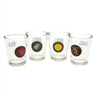 Game Of Thrones Shot Glass Set 4 Pack Gift Box Fan New Official Licensed Product