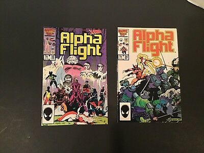 ALPHA FLIGHT #33 & #34, 1st APPEARANC LADY DEATHSTRIKE - FREE SHIPPING !