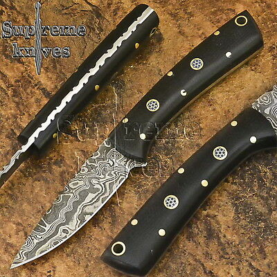 "(S250)-7"" Handmade Damascus Steel Bush Craft Skinner Micarta knife-FREE SHIPPING"