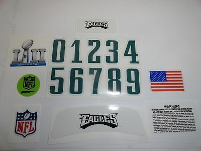 Philadelphia Eagles Super Bowl VII Football Helmet Decals