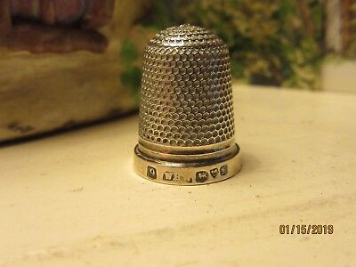 """Edwardian Silver Thimble 1906~Chester~Rare Maker """"WHW"""""""
