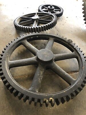 4 Vintage Wooden Foundry Gear Patterns