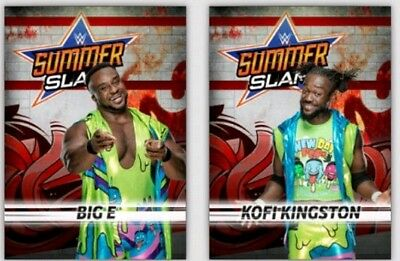 Topps WWE Slam Digital Card Trader - Set of 54 Blue SummerSlam 2018 + 2 Awards