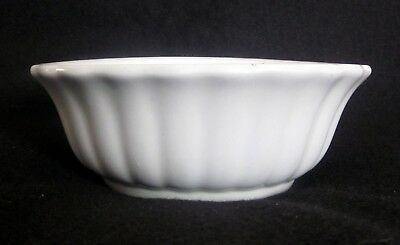 Antique J & G Meakin Fluted Ribbed White Ironstone Farmhouse Potato Bowl 7 5/8""