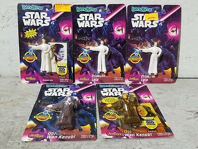 Collection of (5) 1993 Just Toys Star Wars Bend-Ems Bendable Figures MOC