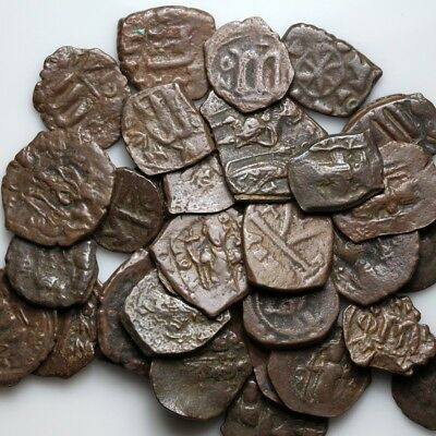 Top Lot of 32 Byzantine And Arab Pseudo Byzantine Bronze coins-Include rare coin