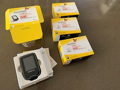 Libre Freestyle 10 Day Flash Glucose Reader And 3 Sensors