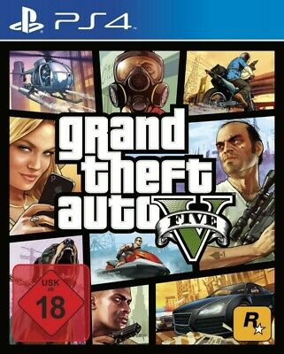 PS4 / Sony Playstation 4 game - Grand Theft Auto V / GTA 5 EN/GER boxed