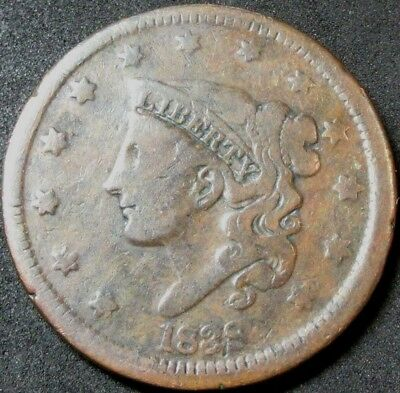 1838 Coronet Head Large Cent Coin