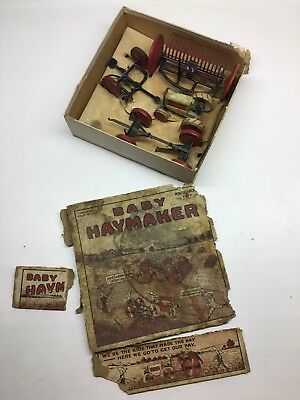 Vintage Animate Toy Baby Haymaker Farm Set With Box
