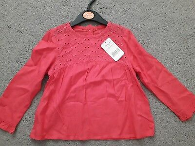 girls long sleeve top age 18-24 months