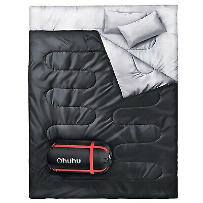 Cold Weather Sleeping Bag 2 Person For Adults With Pillow Women Men Backpacking