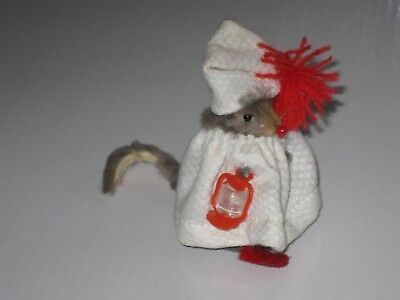 Bedtime With Lantern, Mouse Doll,  Original Fur Animals, W. Germany; 1960s-70s