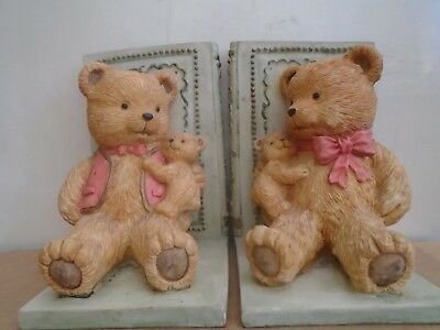 adorable TEDDY BEAR bookends by Academy   ideal for Childrens bedroom or nursery