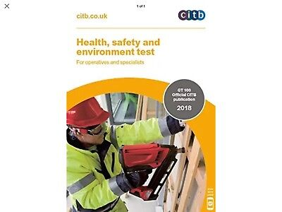 NEW!Health,safety,environment test for operatives and specialists 2018:GT100/100