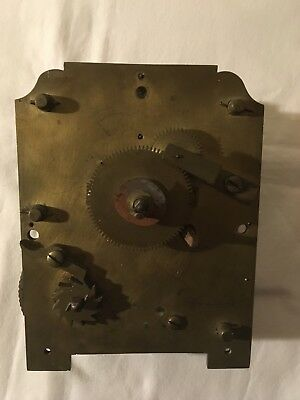 19c brass fusee clock movement wall or bracket heavy for restoration spares