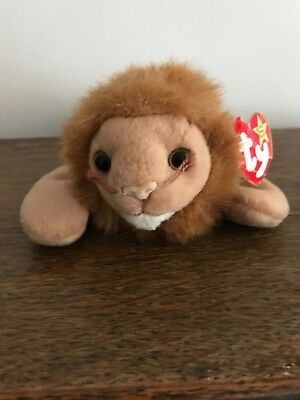 Roary - Ty Beanie Baby Lion - With Tags