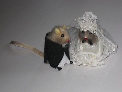 Russ Mouse Bride & Groom; Collectible Figure, Korea, 1970s-80s