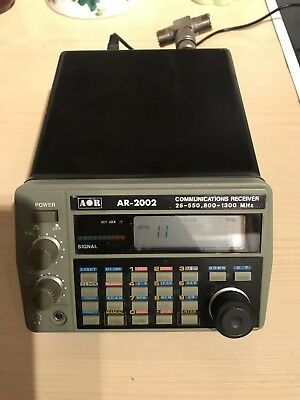 AOR AR-2002 Communicatios Receiver 25-550 800-1300 MHz Japan gebraucht + Steck.