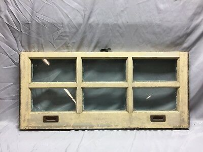 Antique 6 Lite Window Sash Brass Sash Lifts Shabby Vintage Old Chic 16X36 49-19C