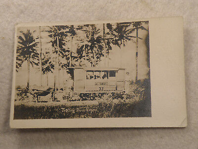Daet, Bicol Philippines   Daet Tramway Co. Real Photo   Post Card  Velox