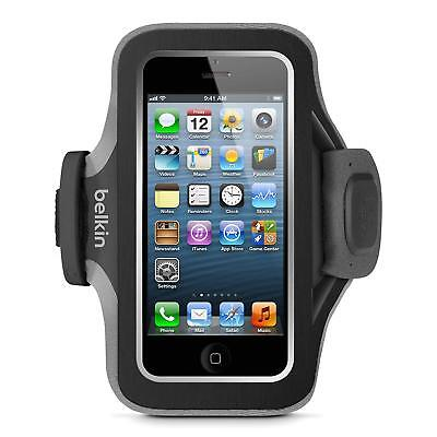 Belkin Slim-Fit Plus Armband for iPhone 5 / 5S / 5c / SE (Black/Gravel)