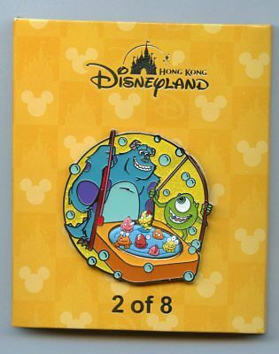 Disney HKDL Monsters, Inc Sulley & Mike Play Go Fishing Game Boxed LE 500 Pin