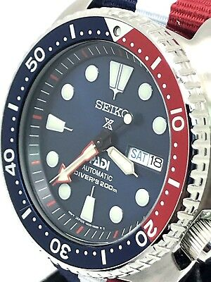 Seiko Padi Automatic Prospex Pepsi Turtle Divers 200m Men S Watch