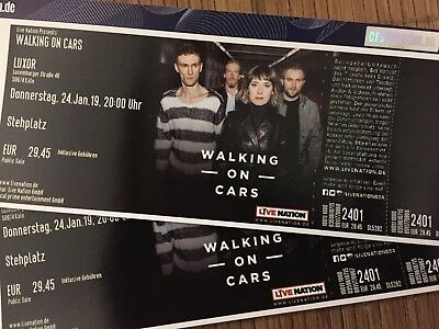 2 Tickets Walking On Cars  Köln 24.01.2019  LUXOR