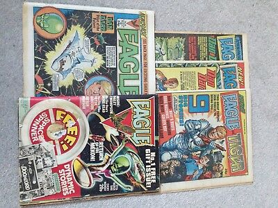 Eagle & Tiger Comic Lot (1980's) Includes 1st editions