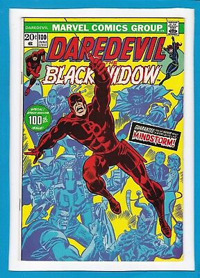 DAREDEVIL AND THE BLACK WIDOW #100_JUNE 1973_VF MINUS_SPECIAL 100th ISSUE!